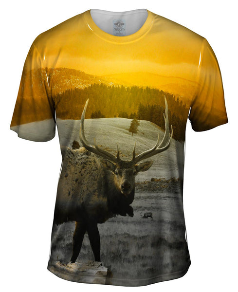 Yellow Elk Mens T-Shirt