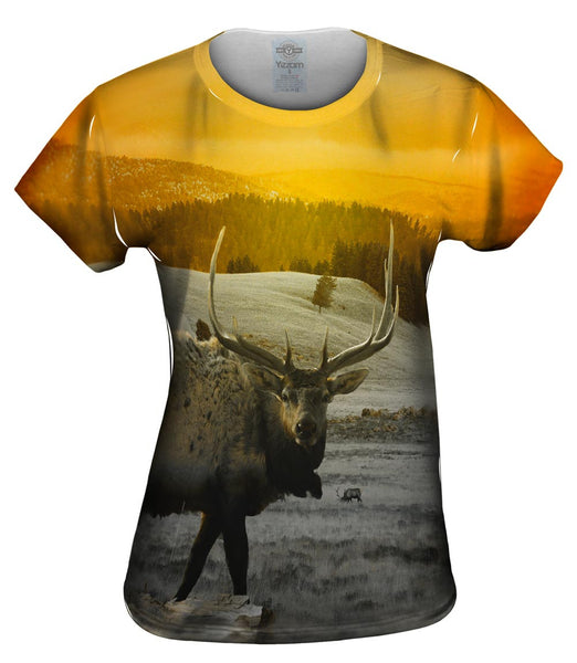 Yellow Elk Womens Top