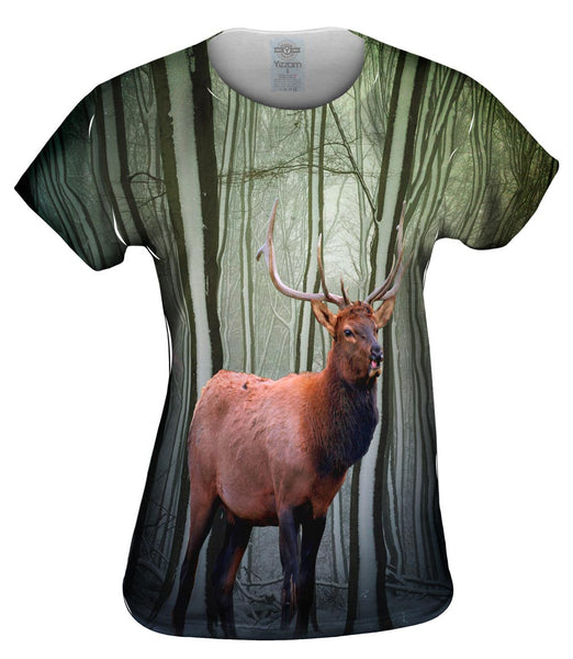 Snow Tree Elk Womens Top