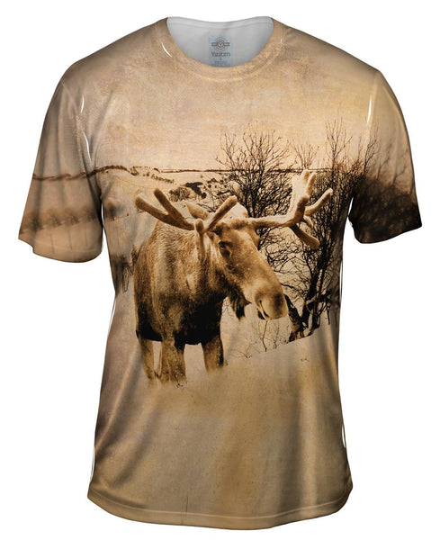 Farm Moose Mens T-Shirt