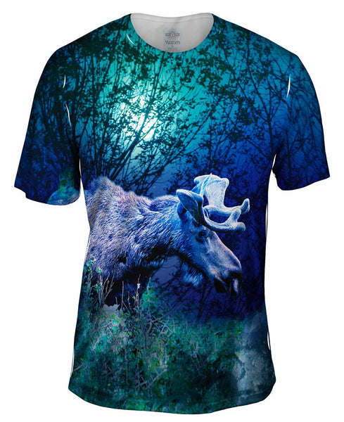 Night Moose Mens T-Shirt