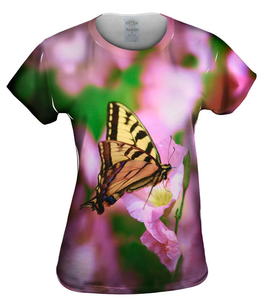 Zebra Butterfly Womens Top