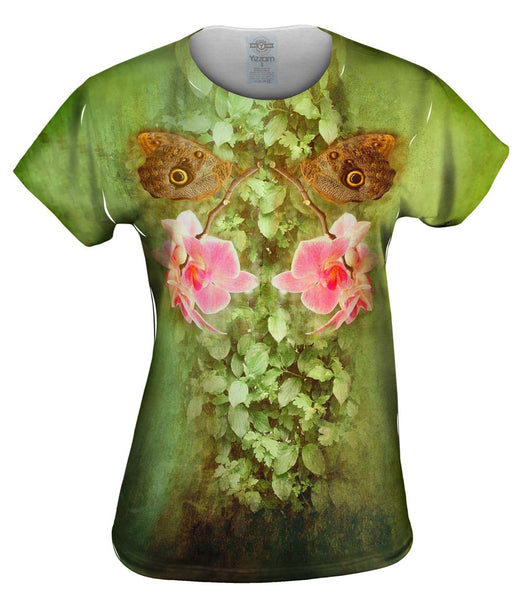 Tiger Eye Butterfly Womens Top