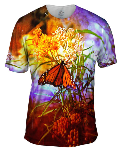 Poppy Butterfly Mens T-Shirt