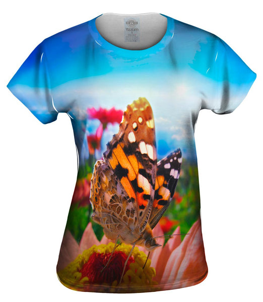 Globe Butterfly Womens Top