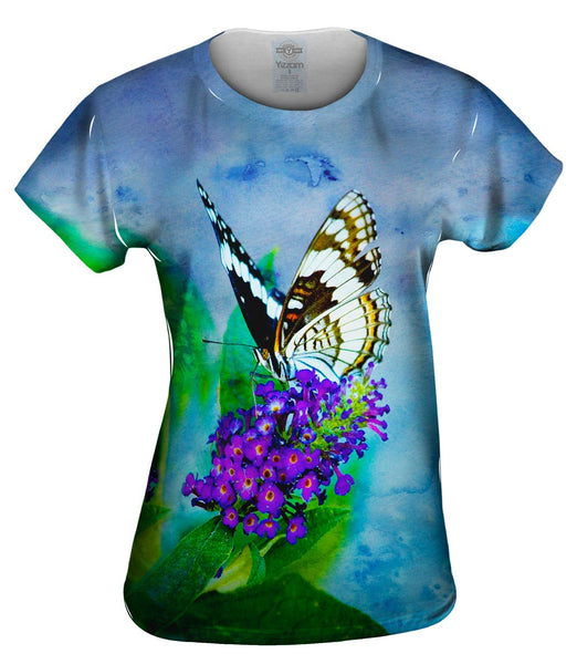 Water Color Butterfly Womens Top