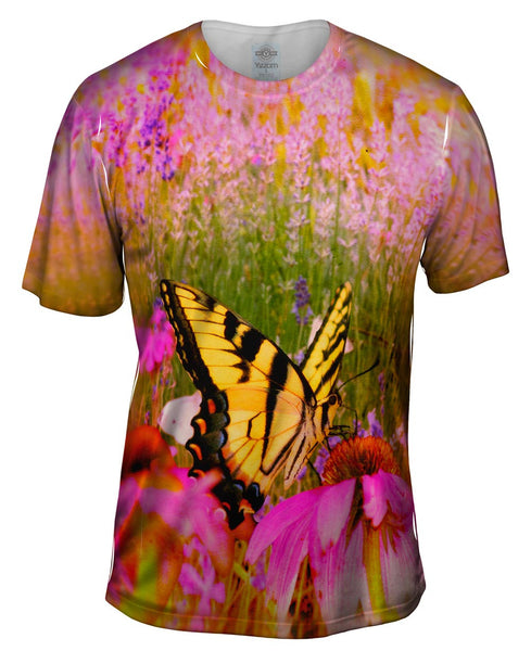 French Butterfly Mens T-Shirt