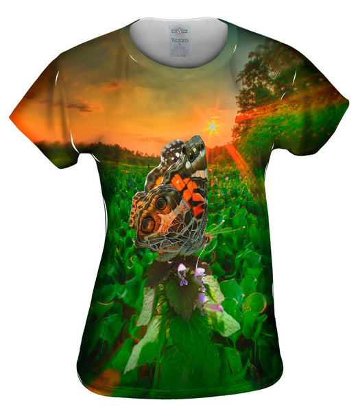 Farm Butterfly Womens Top