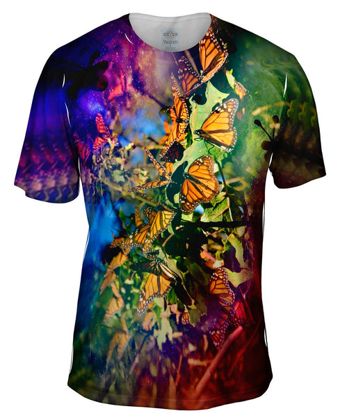 Tiedye Butterflies Mens T-Shirt