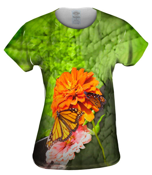 Flowers And Butterflies Womens Top