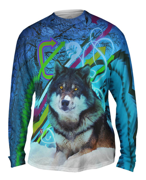 Arrow Wolf Mens Long Sleeve