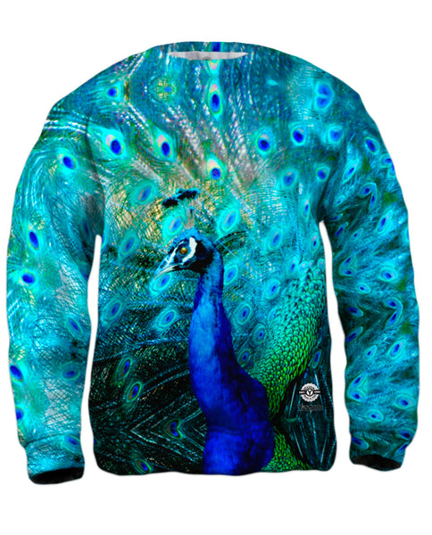 Gold Peacock Mens Sweatshirt