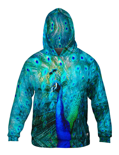 Gold Peacock Mens Hoodie Sweater