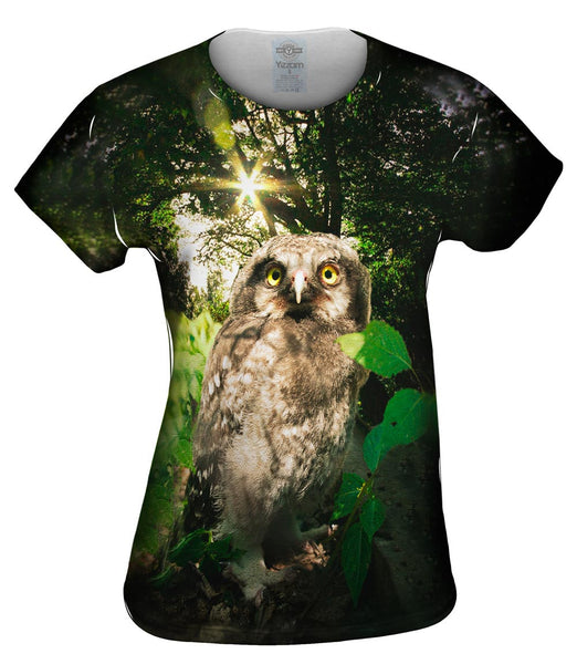 Lone Babe Owl Womens Top