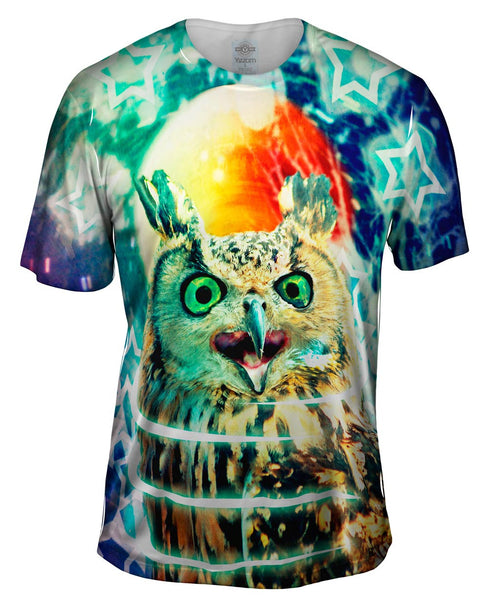 Scream Owl Mens T-Shirt