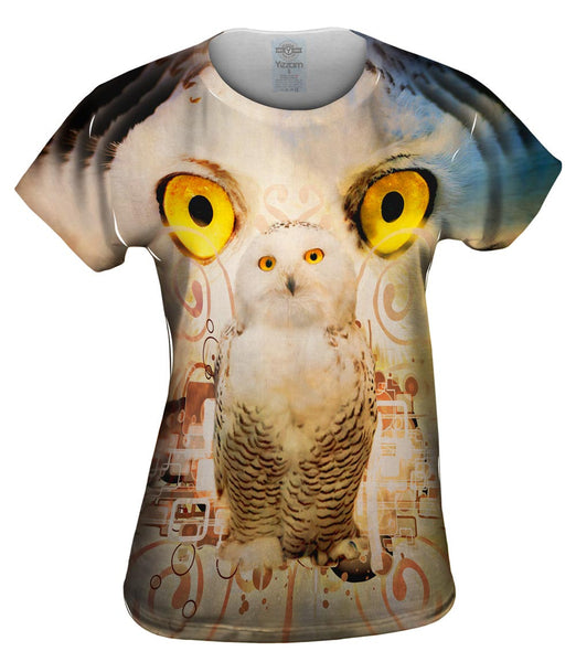 Snow Nebula Owl Womens Top