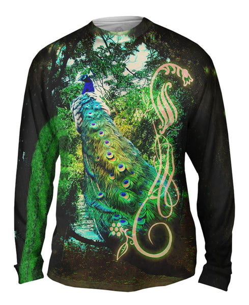 Jungle Peacock Mens Long Sleeve