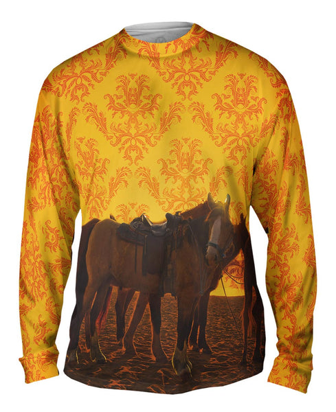 Sand Horse Mens Long Sleeve