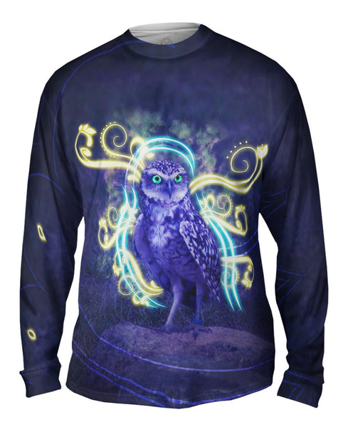 Swirl Owl Mens Long Sleeve