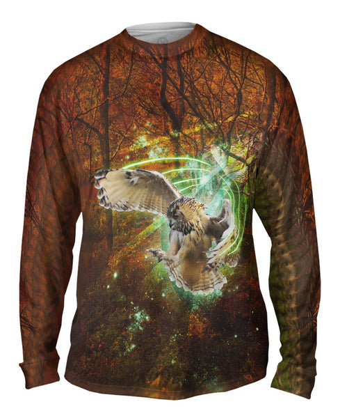 Green Light Owl Mens Long Sleeve