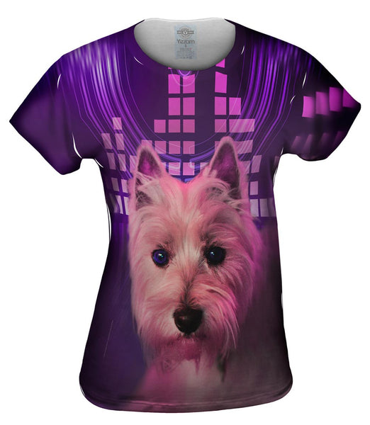 DJ Yorkie Puppy Womens Top