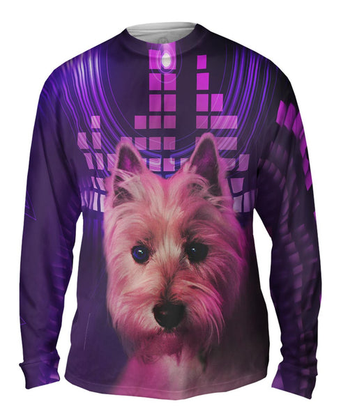 DJ Yorkie Puppy Mens Long Sleeve