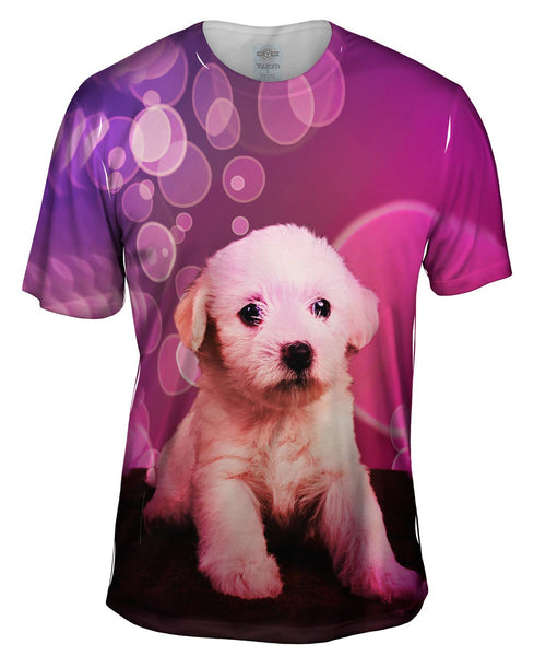 Bubble Lap Puppy Mens T-Shirt