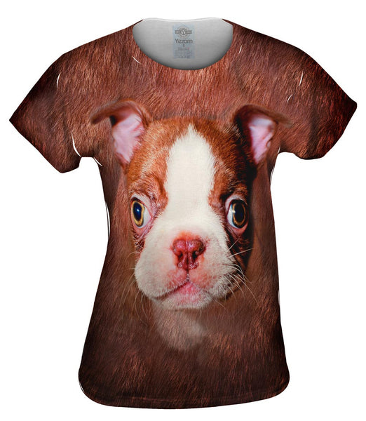 Boston Terrier Face Womens Top