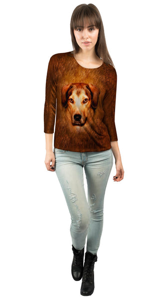 Adorable Beagle Face Womens 3/4 Sleeve