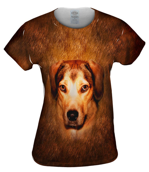 Adorable Beagle Face Womens Top
