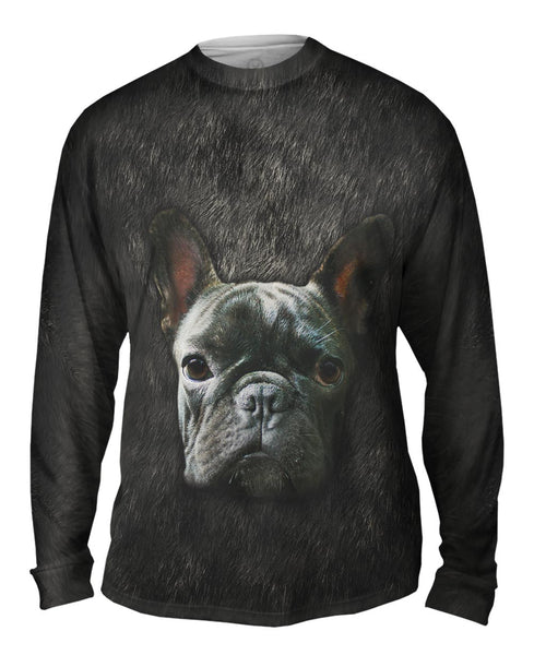 French Bulldog Face Mens Long Sleeve