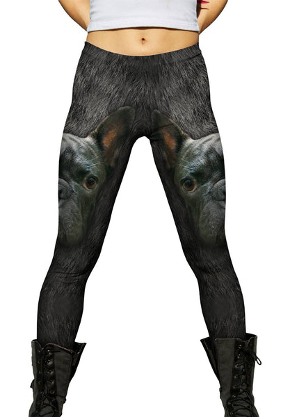 French Bulldog Face Womens Leggings