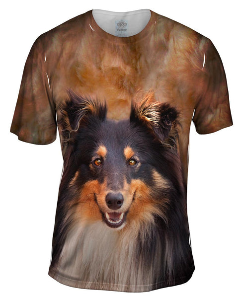 Sheltie Face Mens T-Shirt