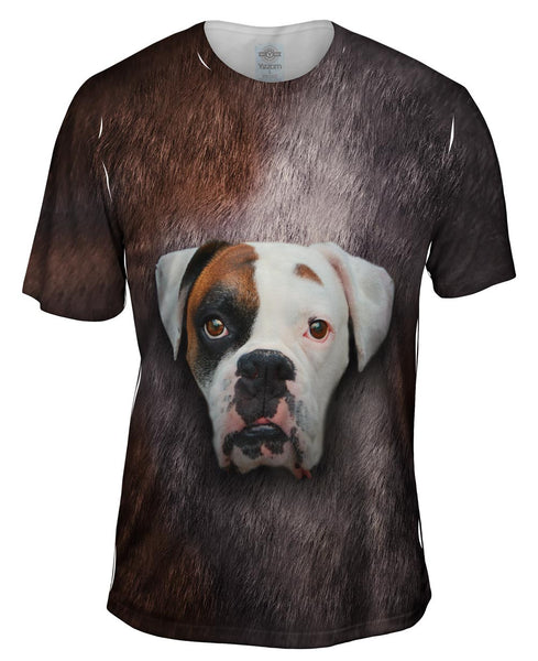Boxer Dog Face Mens T-Shirt