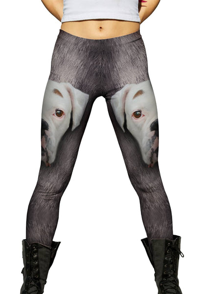 Boxer Dog Face Womens Leggings