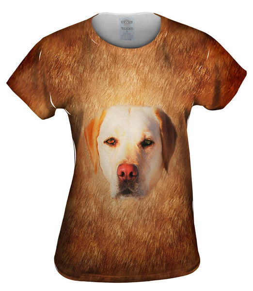 White Lab Face Womens Top