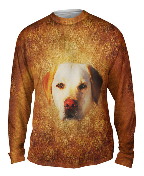 White Lab Face Mens Long Sleeve