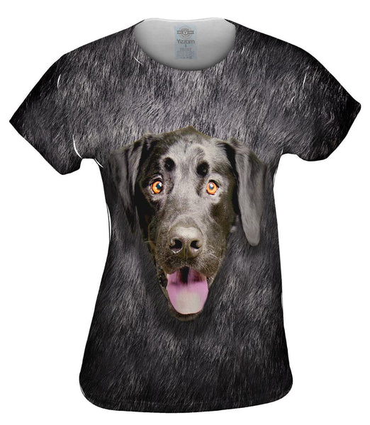 Black Lab Face Womens Top