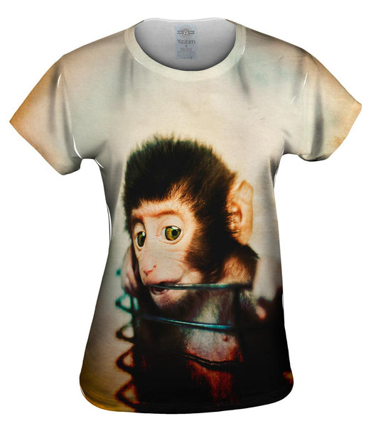 Basket Baby Monkey Womens Top