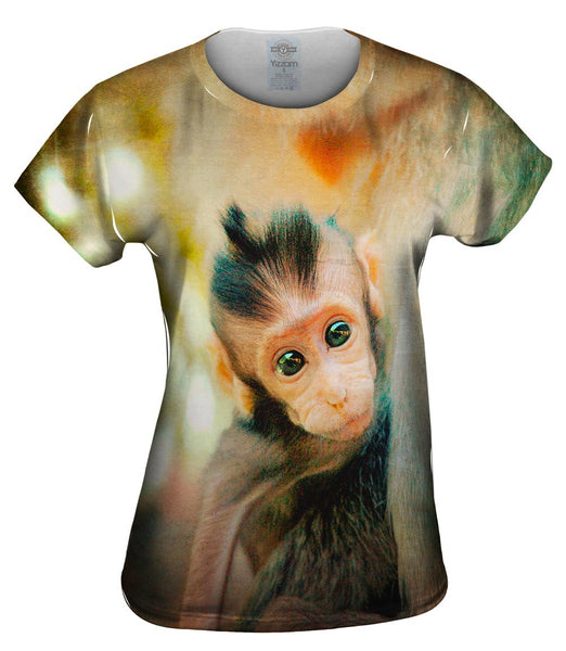 Curious Baby Monkey Womens Top