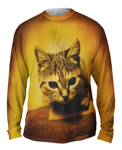 Racer Kitten Mens Long Sleeve
