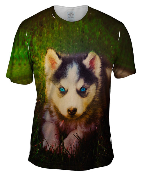 Emo Husky Puppy Mens T-Shirt