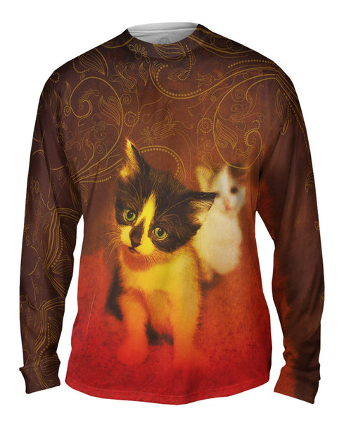 Curious Kitten Mens Long Sleeve