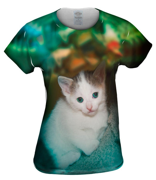 Relaxing Kitten Womens Top