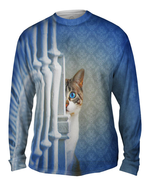 Hiding Kitten Mens Long Sleeve