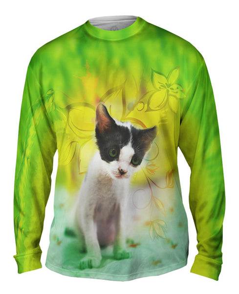 Tired Kitten Mens Long Sleeve