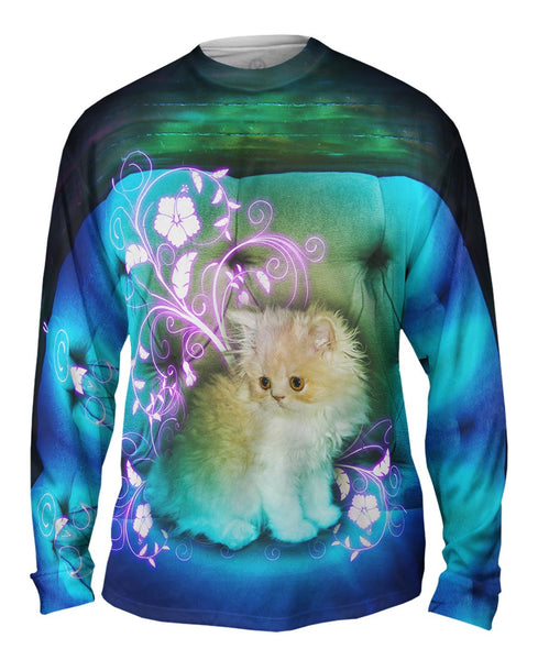 Couch Kitten Mens Long Sleeve