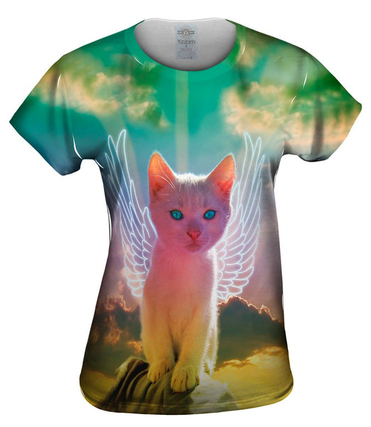 Winged Kitten Womens Top