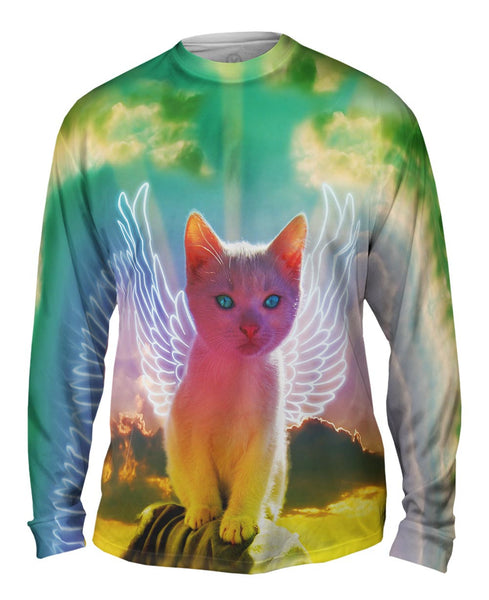 Winged Kitten Mens Long Sleeve
