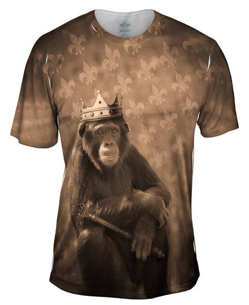 Jungle King Monkey Mens T-Shirt